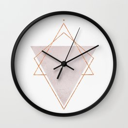BLUSH COPPER ROSE GOLD GEOMETRIC SYNDROME II Wall Clock