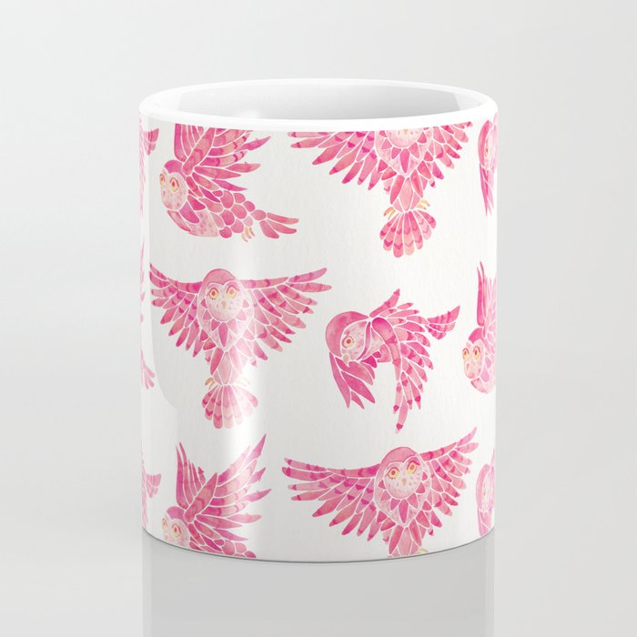 Owls in Flight – Pink Palette Coffee Mug