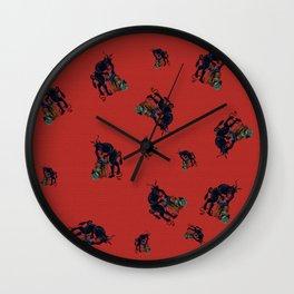 The Krampus - an Austrian Legendary Figure Wall Clock