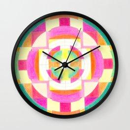 Mandala heart opening Wall Clock