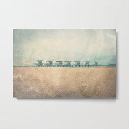 Venice cabins Metal Print