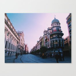City Streets at Sunset Canvas Print