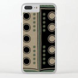 """Tribal Viridian Stars"" Clear iPhone Case"