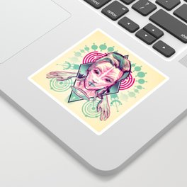Alien Abduction - Anaglyph Sticker