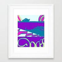 dalek Framed Art Prints featuring Dalek by Elina Diaz