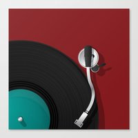 dj Canvas Prints featuring DJ by Rceeh