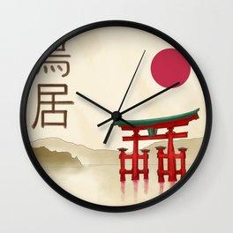 Torii Gate - Painting Wall Clock