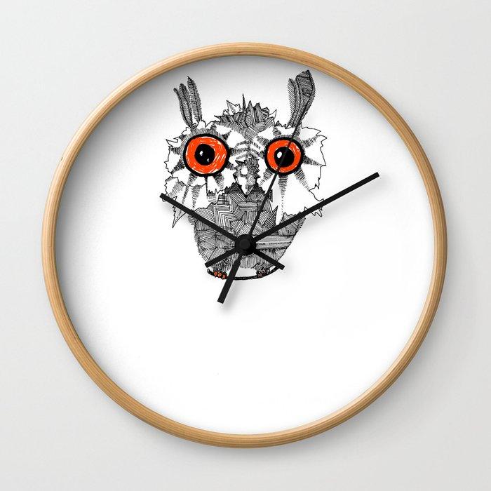 Small Owl Wall Clock