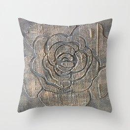Novato Grey Tone Flower Painting Throw Pillow