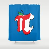pi Shower Curtains featuring Apple Pi by Tom Burns