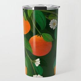 Oranges and Blossoms / Botanical Illustration Travel Mug