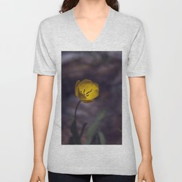 Yellow Tulip in The Forest Unisex V-Neck