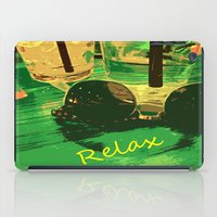 relax iPad Cases featuring Relax by Geni