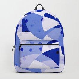 Polka Dots Blue Geometric Design Backpack