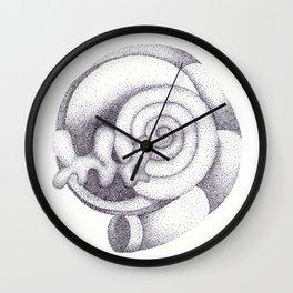 Ink Dots Spiral Wall Clock