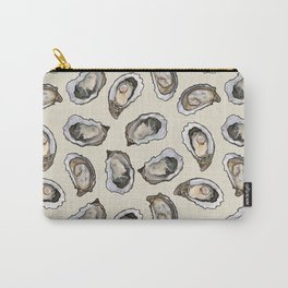 Oysters by the Dozen in Cream Carry-All Pouch