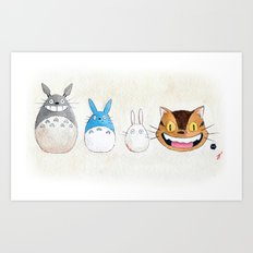 Make the Unlikeliest of Friends, Wherever You Go Art Print