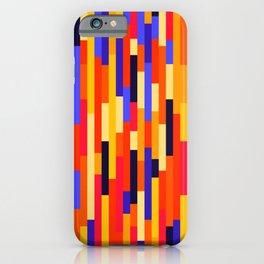 Group of Lines (Purple & Orange) iPhone Case