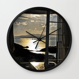 The Haunted Sunset Wall Clock