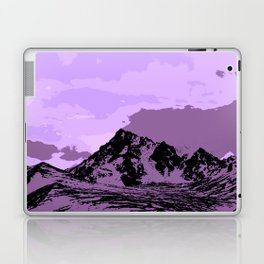 Chugach Mountains - EggPlant Pop Art Laptop & iPad Skin