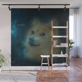 shibe doge in space Wall Mural
