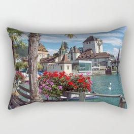 Oberhofen Castle -1 Rectangular Pillow