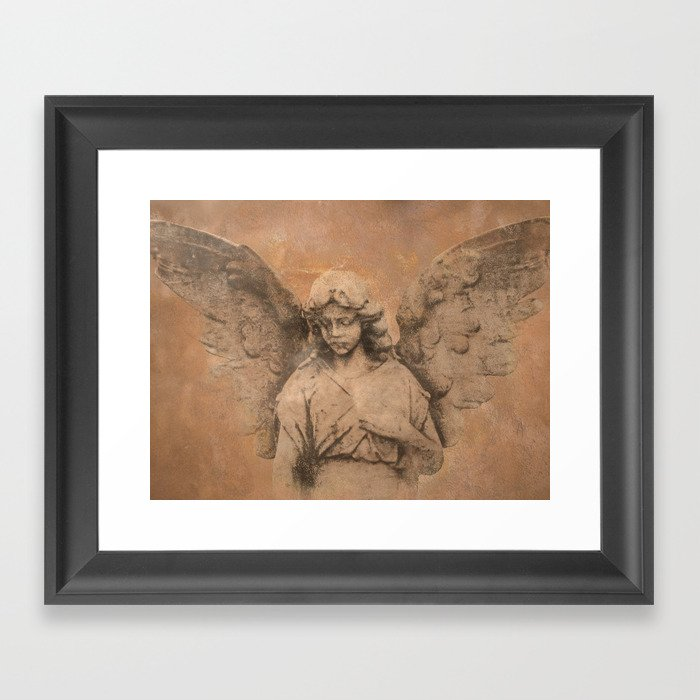 Rustic Angel Lady Woman Spiritual Home Decor Religious Art A322b Framed Print By Nicolphotographicart
