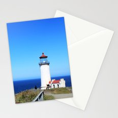 Lighthouse at Olympic National Park seaside, Seattle.  Stationery Cards