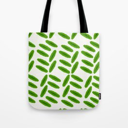 Palm leaves pattern green leaves interior grid tropical Tote Bag