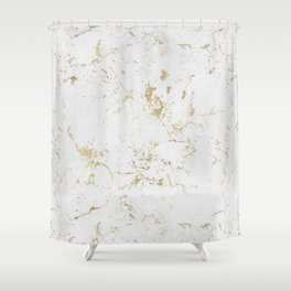 Marble Gold Mine Shower Curtain