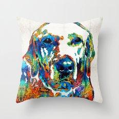 Labrador Retriever Art - Play With Me - By Sharon Cummings Throw Pillow