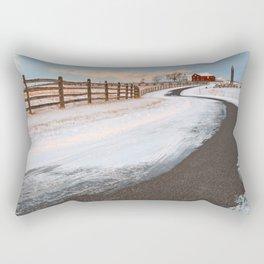 Winding Winter Road Rectangular Pillow