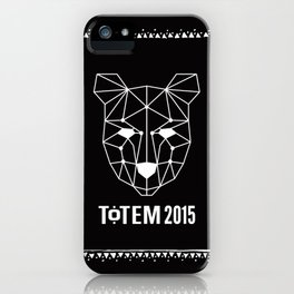 Totem Festival 2015 - White & Black iPhone Case