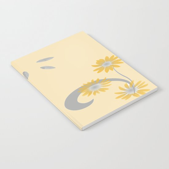 Foral Scroll Design - Orange Notebook