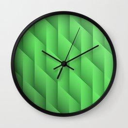 Gradient Green Diamonds Geometric Shapes Wall Clock
