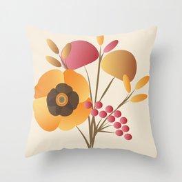 Memorable Florals Throw Pillow