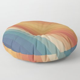 Retro 70s Sunrays Floor Pillow