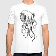 Octogirl MEDIUM Mens Fitted Tee White