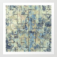shabby chic Art Prints featuring Shabby Chic Tiles  by Leatherwood Design