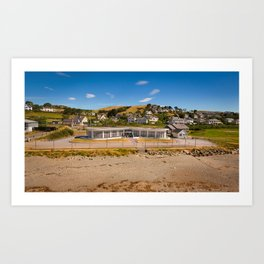 Seafront Cafe Art Print