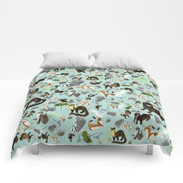 Mustelids from Spain pattern Comforters