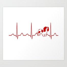Cavalier King Charles Spaniel Heartbeat Art Print