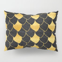 Black and golden scales pattern Pillow Sham