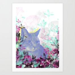 Lazy Kitty Art Print