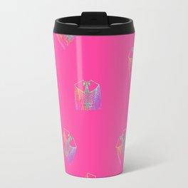 Old Fashion Pink Blouses Pattern Travel Mug