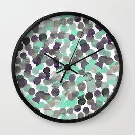 Gracie Spot Aqua Grey Wall Clock