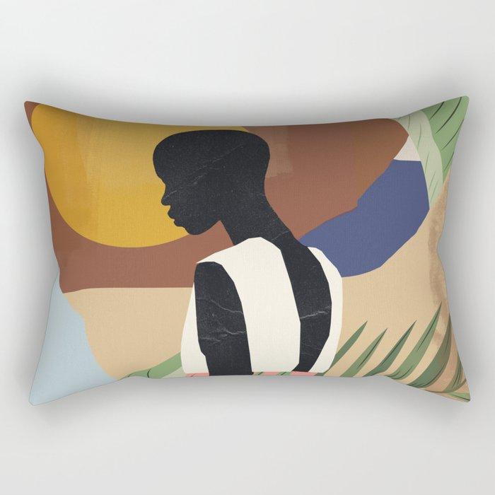 Tropical Girl 2 Rectangular Pillow
