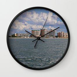 Fort Myers Beach from the Gulf Wall Clock