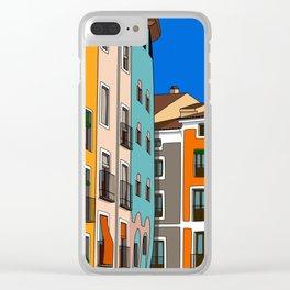 Casas de colores Cuenca. Clear iPhone Case