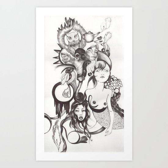 Imaginación Art Print